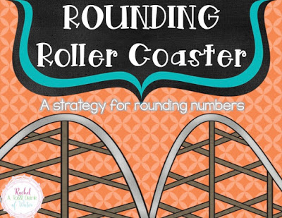 A rounding strategy to teach your students how to round numbers using a roller coaster with a free graphic organizer and printables.