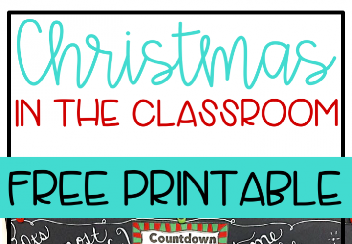 Celebrate Christmas in the classroom with a countdown! (Winter version available too)