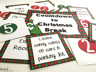 Enjoy Christmas in the Classroom with this FREE countdown to break!