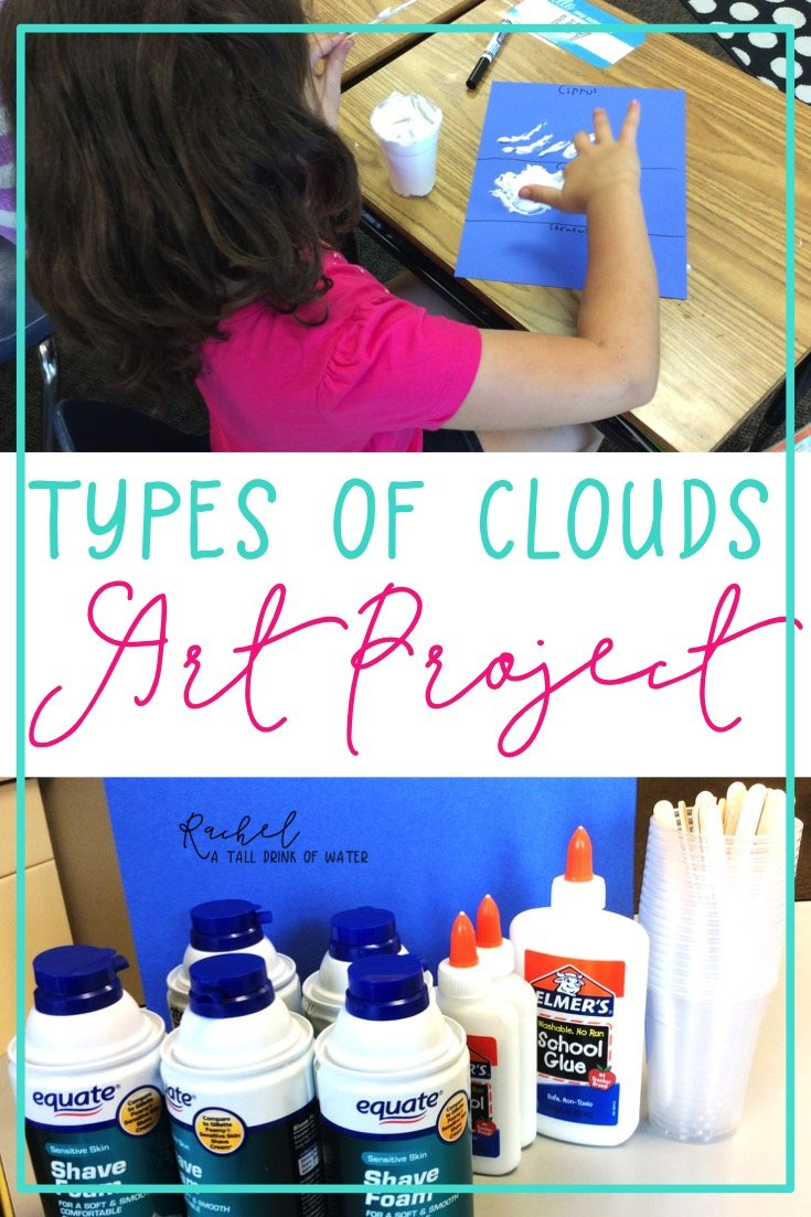 Fun and easy art project using DIY puffy paint to make the 3 types of clouds