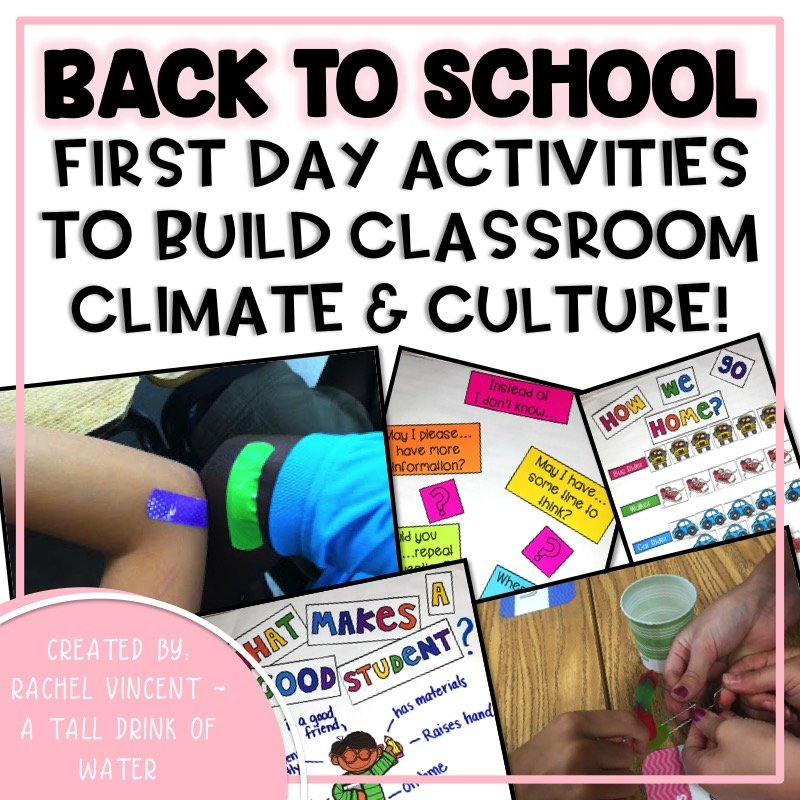 Back to School: First Week Activities to Build Classroom Climate and Culture