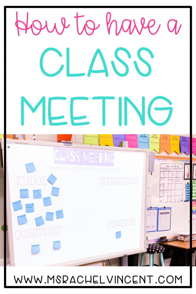 How to have a class meeting