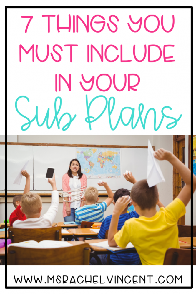 7 Things You Must Include in your Sub Plans