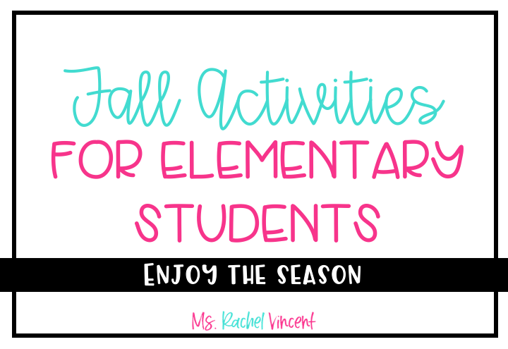 Lots of fun fall activities for upper elementary students