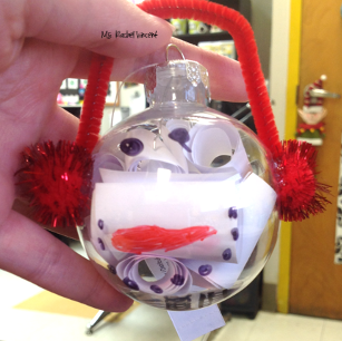 Kid friendly Christmas ornament snowman