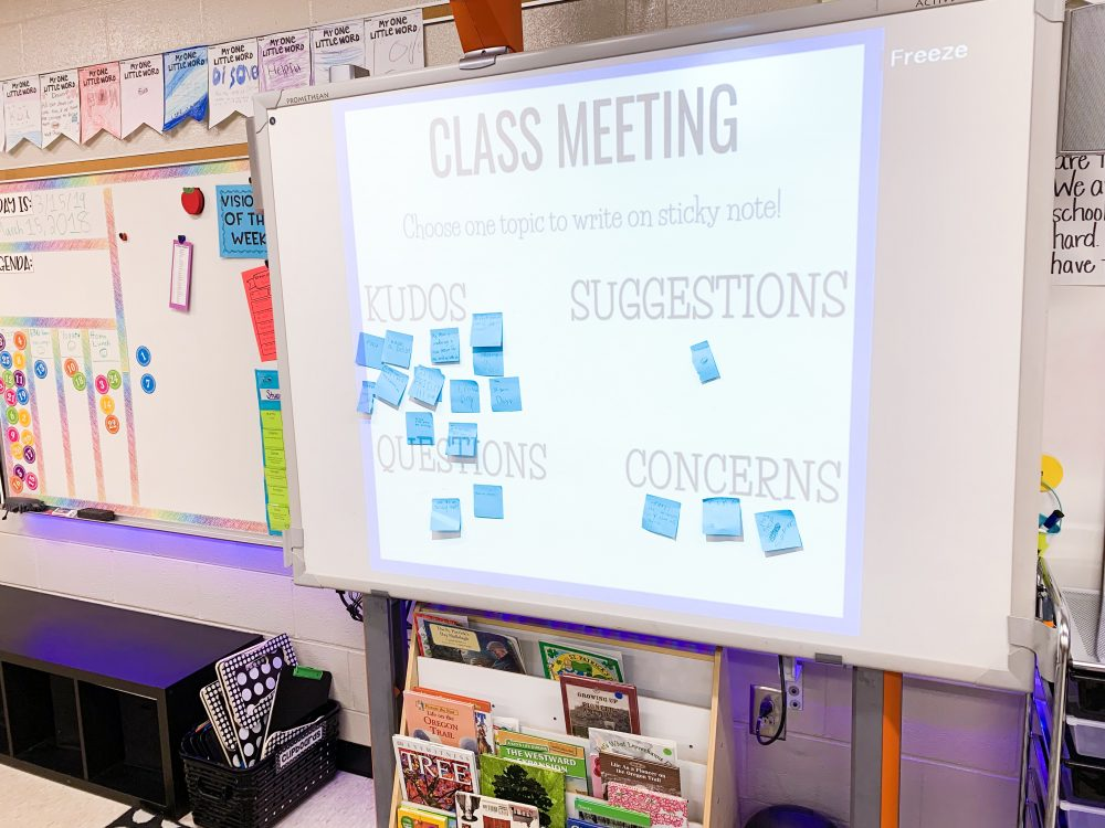 Class meetings give students a voice in the classroom