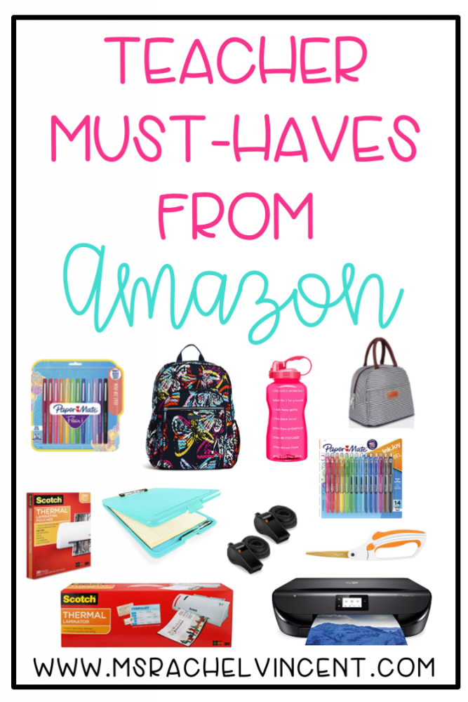 Check out these top teacher must haves from Amazon that I can't live without!