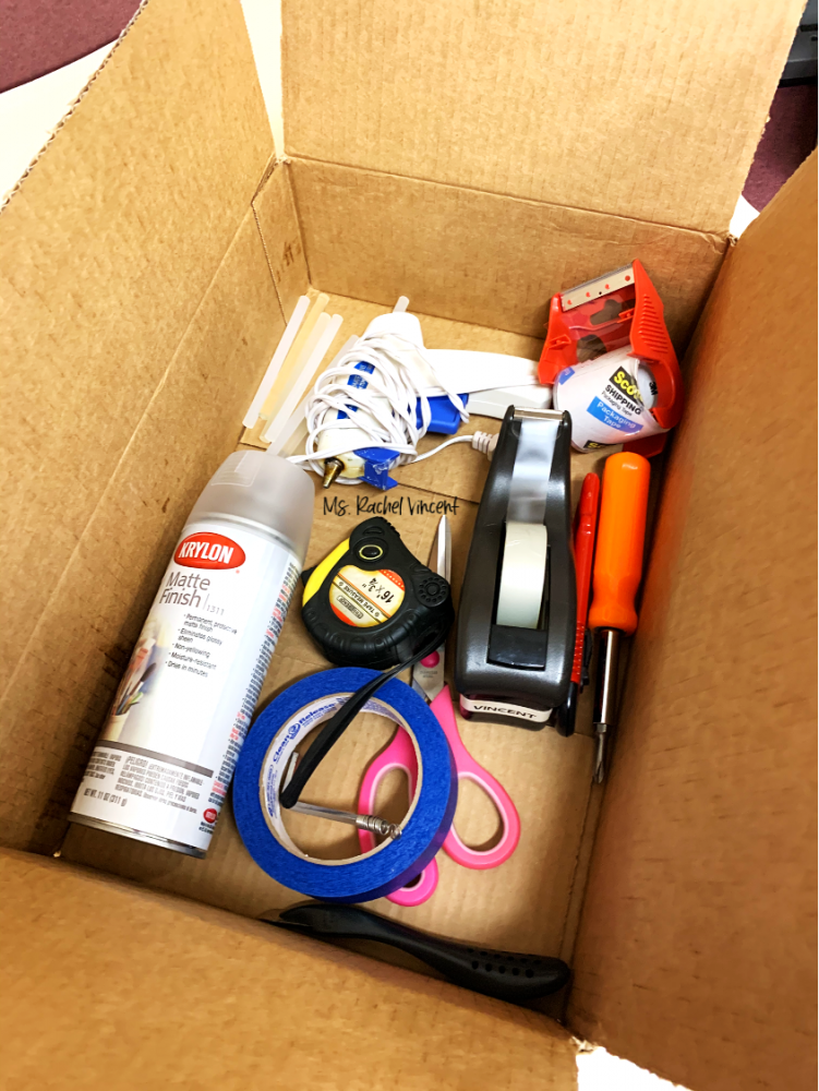 box for unpacking your classroom