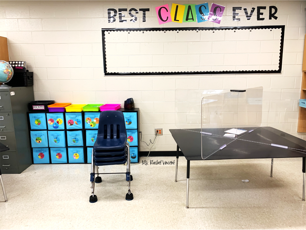 take pictures of areas of your classroom