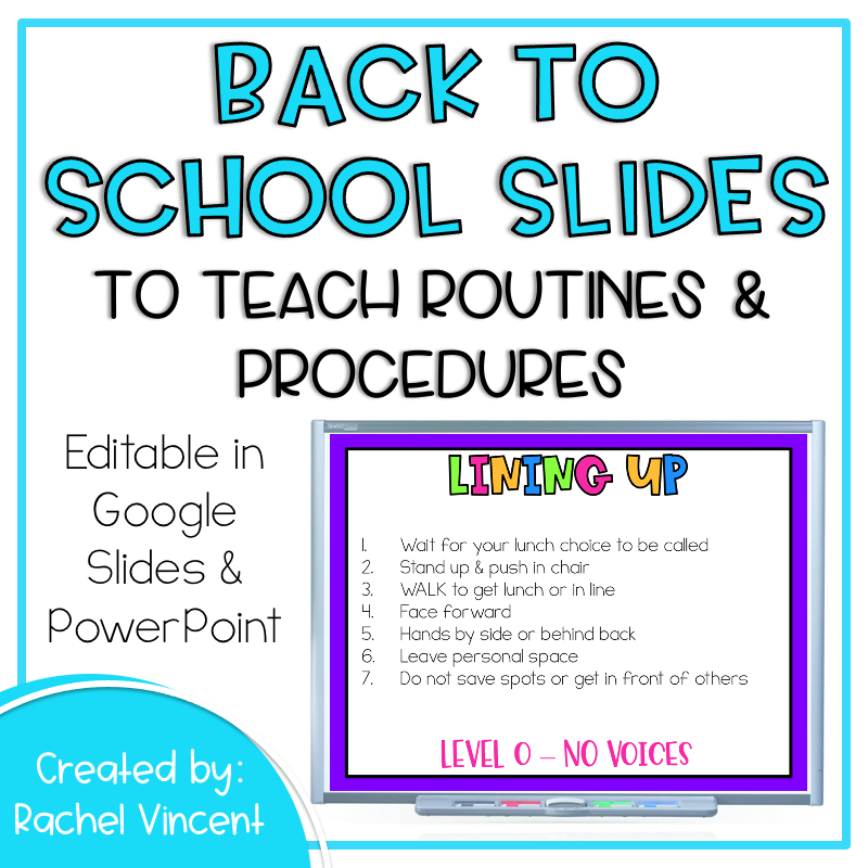 slides to teach routines and procedures