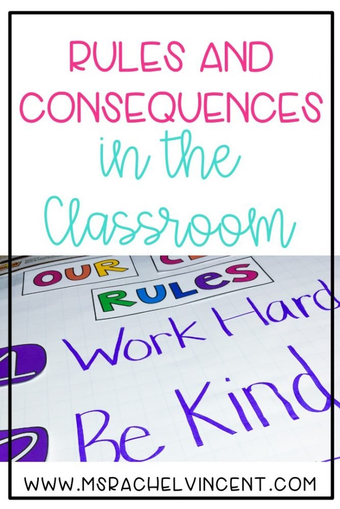 Rules and consequences in the classroom pin