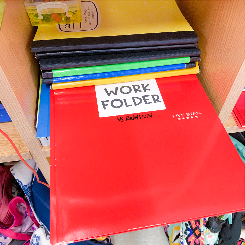 Work folder for organizing student papers