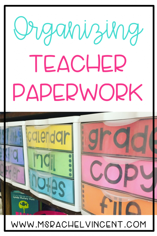 Organize your teacher paperwork with these ideas