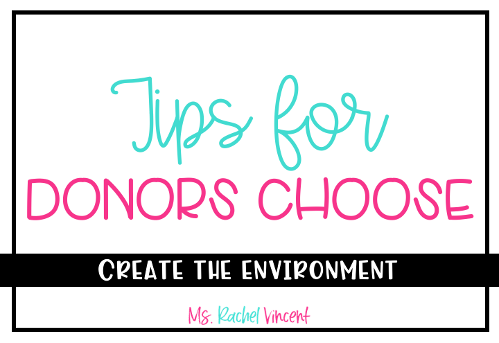 Tips for Donors Choose